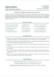 Sample Resume Format For Marketing Executive Product Management