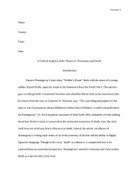 short story essay short story analysis essay example gxart literary essay on hemingway s short story quot ier s home literary essay on hemingway
