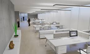 lighting at the workplace of modern office furniture Office led