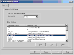 configuration parameters and the registry