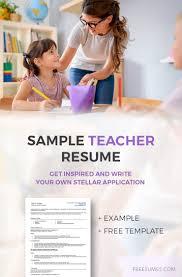 Resume Samples For Teacher Teacher Resume Example Write Your Stellar Application Freesumes
