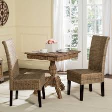 Dining Room  Nice Burnt Grey Rattan Linen Polyester Fabric Dining - Heavy duty dining room chairs