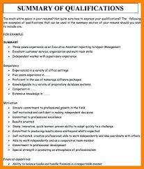 qualifications summary resumes nice resume qualification examples on sample of resume summary