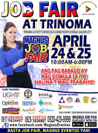 What Happens At A Job Fair Magnus Trinoma Job Fair 2018 When In Manila