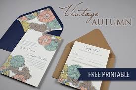 Wedding Invitation Set Templates Diy Vintage Autumn Wedding Invitation Set The Budget Savvy Bride