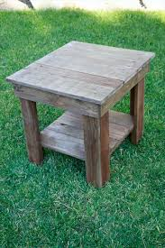 furniture made from pallet wood. recovered pallet end table stain it with chalk paint or antique this furniture made from wood