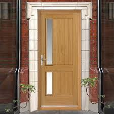 exterior door frame kits. jbk exterior modern loire oak door \u0026 frame kit - therm-l tri glazing kits
