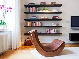 Dark Brown Floating Shelves Fascinating Living Room Modern Home Interior Design With Unique Curve Brown
