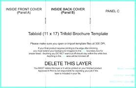 11x17 Trifold Template New Two Fold Brochure Template Word Ngle Templates 4 Panel