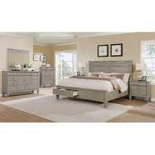 gray bedroom furniture. Fine Gray Vasilikos Grey Solid Wood Construction Platform 5 Piece Bedroom Set On Gray Furniture