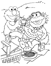 Small Picture Zoe And Elmo Spring Picnic Coloring Page H M Coloring Pages