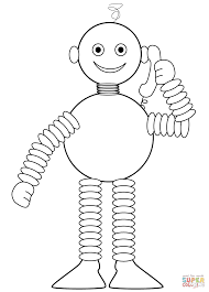 Robot Speaks on the Phone coloring page | Free Printable Coloring ...