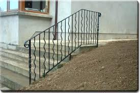 decorative railings. bespoke wrought iron decorative handrail to front entrance steps. gr55 railings e