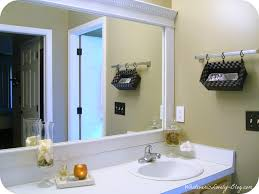 modern bathroom mirror frames. Contemporary Bathroom BathroomRemodelaholic Bathroom Mirror Frame Tutorial In Stunning Images  How To A Builder Grade Modern Frames T