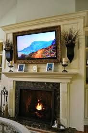 fireplace mantels with tv above decorating ideas corner fireplace