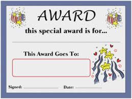 Printable Awards And Certificates Free Printable Award Certificates For Teachers Great New Year Award