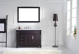 virtu usa 48 victoria single round sink bathroom vanity set in espresso with italian carrara