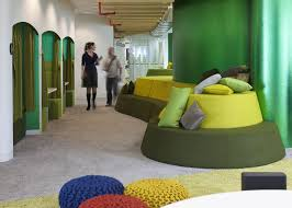 green office interior. google super hq by penson green office interior