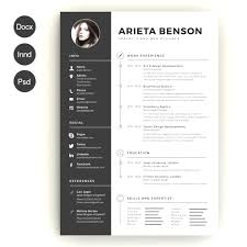 Resume Templates Professional Free Resume Template Docx 100 Minimal Creative Resume 61