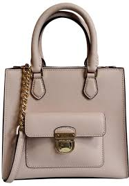 michael kors leather satchel dusty rose 35f7gbdt1l tote in ballet pink gold image 0