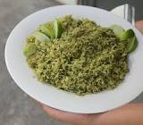 arroz con chile verde  green chile rice