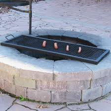 fire pit cooking grill grate rectangular 30
