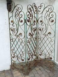 vintage wrought iron tri fold garden