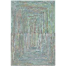 safavieh nantucket 9 x 12 hand tufted cotton and wool rug in teal nan603a 9