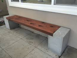 the completed modern bench wood63