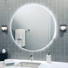 Bold Inspiration Round Bathroom Mirrors With Lights Mirror Design