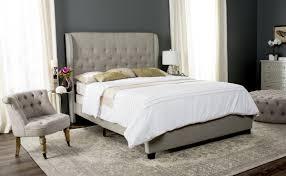 BLANCHETT BED FOX6213C BEDS. Color: Light Grey
