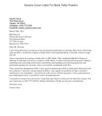 Cover Letter Sample For Bank Teller With No Experience New Objective