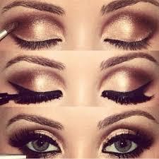 gorgeous smokey eye brown and gold eyeshadow amazing blue eyes