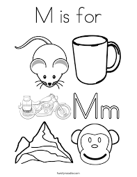 Small Picture Elegant M Coloring Page 45 For Coloring Pages Online with M