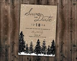 Winter Wedding Save The Date Winter Save The Date Etsy