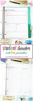 student binder with free printables for back to school study aids high