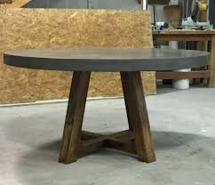 new 60 inch round patio table and tables bases stools creative concrete furniture fabrication and inch