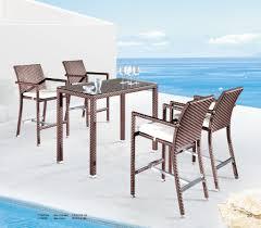 7 Piece Outdoor Bar Set  Wicker Bar Table  Design FurnishingsOutdoor Pub Style Patio Furniture