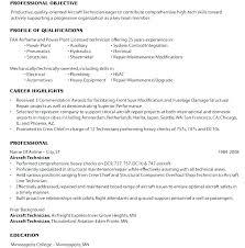 Aircraft Mechanic Resume Englishor Com