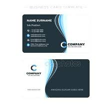 Double Sided Business Card Template Free Two Cards Of Simple In