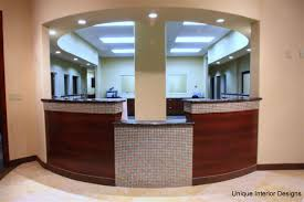 office front desk design. front office design modular art with receptionist desk and pendants logo cm o