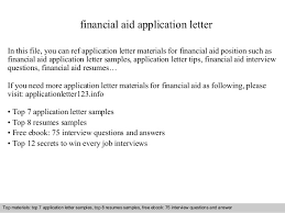 Application For Financial Assistance Letter Sample Filename My