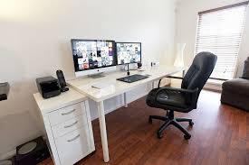 ikea computer desk unique ikea linnmon adils puter desk setup with drawer for dual monitors