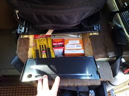 vanagon westfalia under seat storage