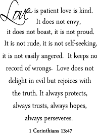 Love Is Patient Love Is Kind Quote Mesmerizing Love Is Patient Love Is Kind Wall Decal Marriage Bible Quote