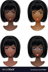 makeup for african american women vector image