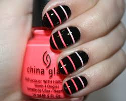 Simple Nail Design Ideas Prev Next Black Pink Nails Easy Nail Designs For Short