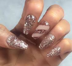 acrylic nail art designs in sequined style | Sooper Mag