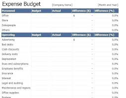 Excel Finance Spreadsheet Business Expenses Spreadsheet Template