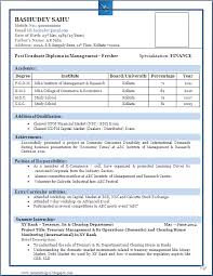 cv formats for freshers